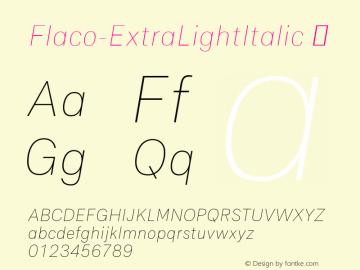 Flaco-ExtraLightItalic