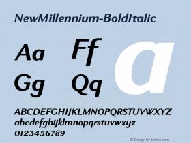 NewMillennium-BoldItalic