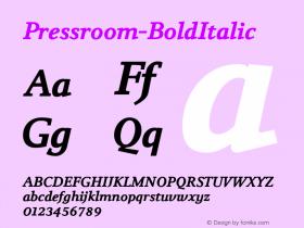 Pressroom-BoldItalic