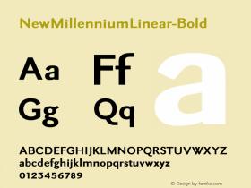 NewMillenniumLinear-Bold