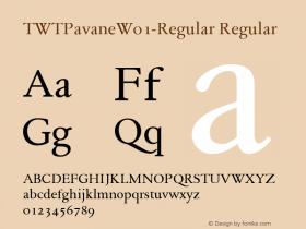 TWTPavane-Regular