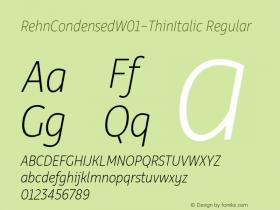 RehnCondensed-ThinItalic