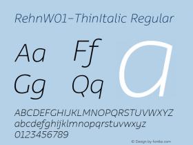 Rehn-ThinItalic