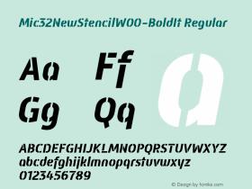 Mic32NewStencil-BoldIt