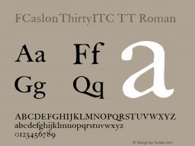 FCaslonThirtyITC TT