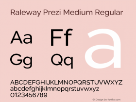 Raleway Prezi Medium