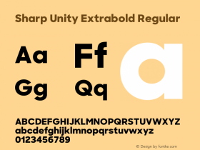 Sharp Unity Extrabold