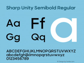 Sharp Unity Semibold