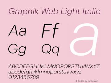 Graphik Web Light