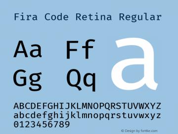 Fira Code Retina