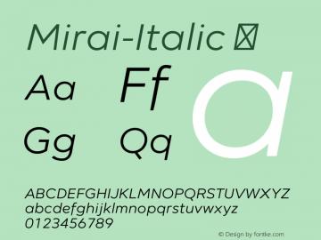 Mirai-Italic