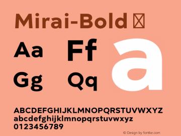 Mirai-Bold