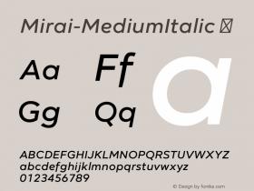 Mirai-MediumItalic
