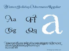 Winter Holidays Alternates