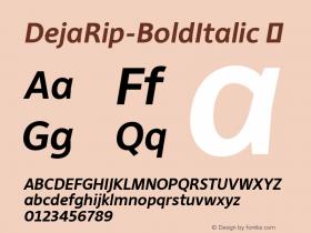 DejaRip-BoldItalic