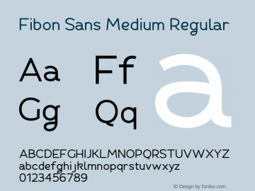 Fibon Sans Medium