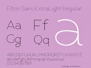 Fibon Sans ExtraLight