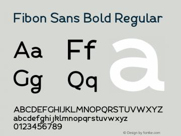Fibon Sans Bold