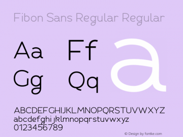 Fibon Sans Regular