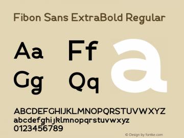 Fibon Sans ExtraBold