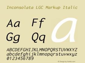 Inconsolata LGC Markup