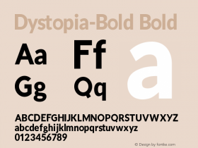 Dystopia-Bold