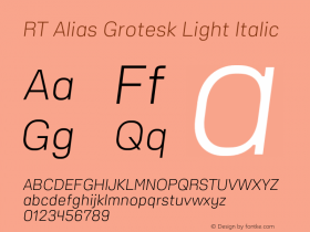RT Alias Grotesk Light