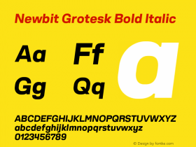 Newbit Grotesk Bold