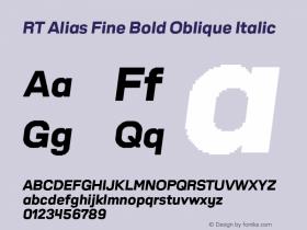 RT Alias Fine Bold Oblique
