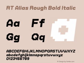 RT Alias Rough Bold