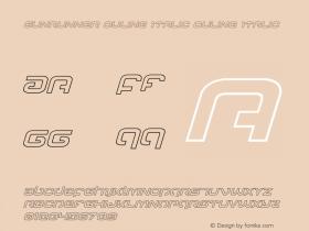 Gunrunner Ouline Italic