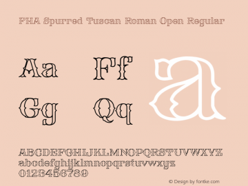FHA Spurred Tuscan Roman Open