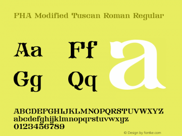 FHA Modified Tuscan Roman