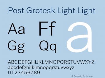 Post Grotesk Light
