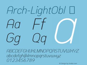 Arch-LightObl