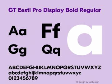 GT Eesti Pro Display Bold