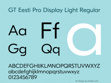 GT Eesti Pro Display Light