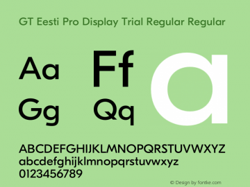 GT Eesti Pro Display Regular