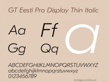 GT Eesti Pro Display Thin