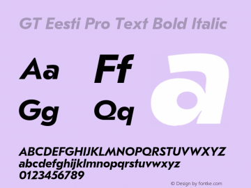 GT Eesti Pro Text Bold