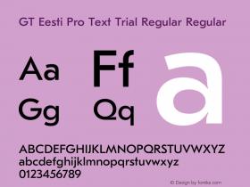 GT Eesti Pro Text Regular