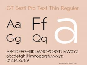 GT Eesti Pro Text Thin