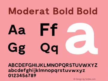 Moderat Bold