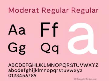 Moderat Regular