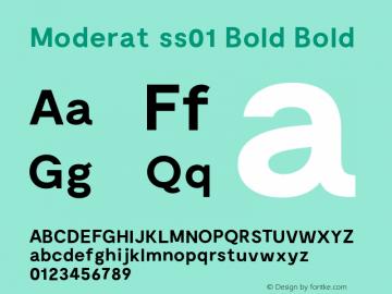 Moderat ss01 Bold