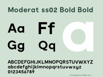 Moderat ss02 Bold