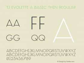 TJ Evolette A Basic Thin