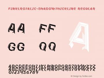FinklRotalic-ShadowThickline