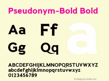 Pseudonym-Bold