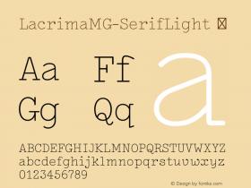 LacrimaMG-SerifLight